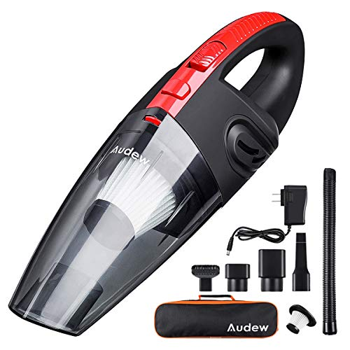 Audew Handheld Vacuum, Hand Vacuum Cordless Rechargeable Pet Hair Vacuum, Car Vacuum Cleaner for Home and Car Cleaning ()