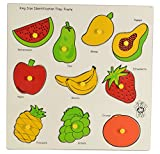 Skillofun Wooden King Size Identification Tray (Fruits)