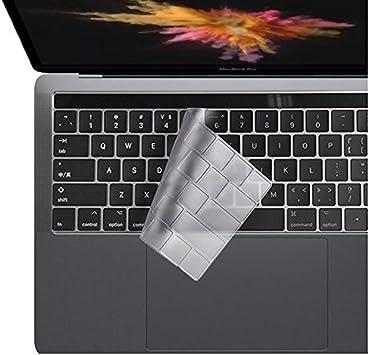 i-Buy - 2 fundas protectoras de silicona para teclado de MacBook Air 13 Pro, 15, [teclado UE] TPU Clear [UK Layout]Pro 13 inch with TouchBar(2016)