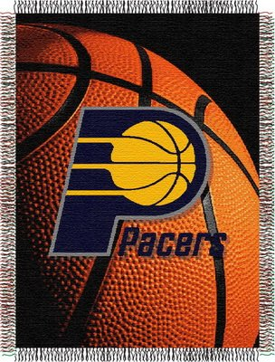 The Northwest Company Officially Licensed NBA Indiana Pacers Photo Real Woven Tapestry Throw Blanket, 48