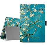 Infiland Verizon ASUS ZenPad Z8s Case - Premium Folio Smart Light Weight Stand Cover with Auto Sleep / Wake Feature for Verizon ASUS ZenPad Z8s ZT582KL 7.9 inch Tablet 2017 Release, Blossom