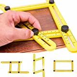 Angleizer Template Tool, Sunmall Multi-Angle Measuring Ruler, Measures All Angles Tool for Handymen Builders Craftsmen (1 Pack)