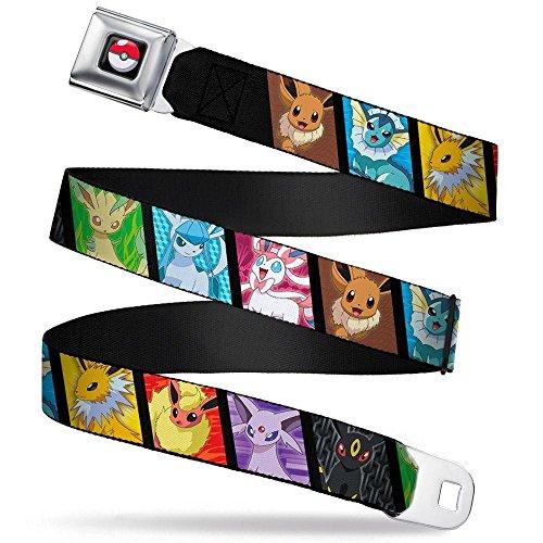 Buckle-Down Seatbelt Belt - Eevee Pokemon Evolution Blocks - 1.5