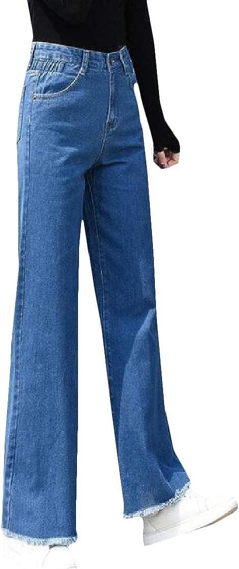 H&E - Pantalones de jean para mujer con dobladillos ...