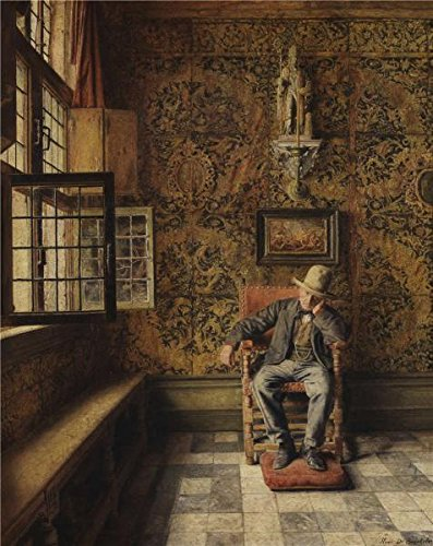 Oil Painting 'Henri De Braekeleer - The Man In The Chair,about 1875' Printing On Perfect Effect Canvas , 30x38 Inch / 76x96 Cm ,the Best Kids Room Artwork And Home (Texas Musical Globe)