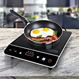 Cosmo 1800W Portable Induction Cooktop Countertop Burner for Dorms - Boats - Patios & RVs - Black