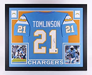 "LaDainian Tomlinson Autographed Signed Chargers 35"" x 43"" Custom Framed Jersey GTSM JSA COA & Hologram"