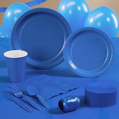 True Blue (Blue) Standard Party Kit for 24 by Creative Converting by Creative Converting
