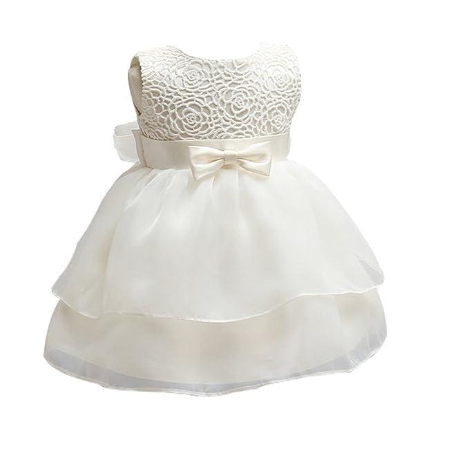 ZAMME Vestido de niña de niña de Bautizo bautizos Vestido de ...