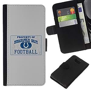 POTROS NFL - la tarjeta de Crédito Slots PU Funda de cuero Monedero caso cubierta de piel Para Samsung ALPHA G850