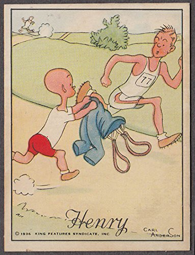 Carl Anderson's Henry cartoon Tareyton cigarette card 1936 pants for sprinter ()