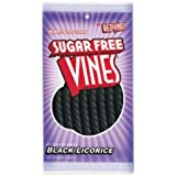 Vines Sugar Free Black Licorice Twists 5 Ounce Theater Size Pack 1 Pouch