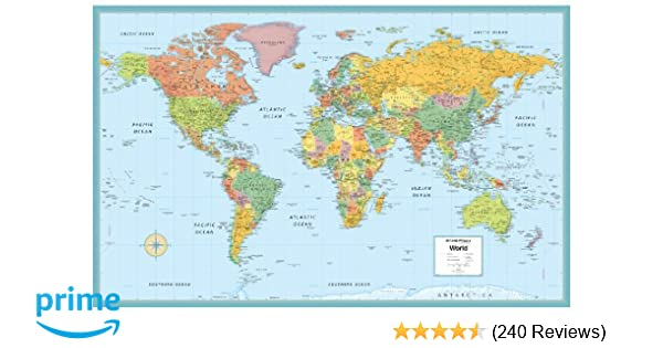Rand McNally World Folded Wall Map (M Series Map of the ...