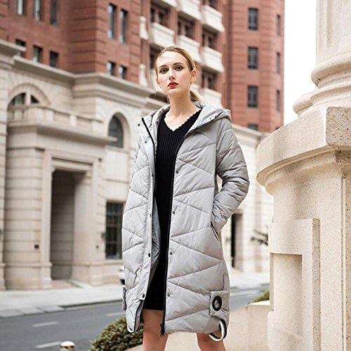 5xl hooded thick long cotton jacket thick gray were ladies and thick thin section winter Autumn amp;FUSHI TT xwP80zqgaa