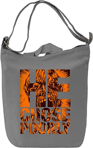 He Chose Poorly Borsa Giornaliera Canvas Canvas Day Bag  100% Premium Cotton Canvas  DTG Printing 