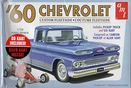 AMT AMT1063M 1/25 1960 Chevy Fleetside Pickup w/Go Kart 2T