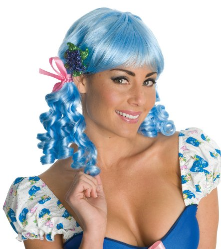 Secret Wishes Strawberry Shortcake Adult Deluxe Muffin Wig, Blueberry, Adult -