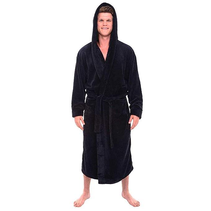 POLP Albornoz Hombre Unisex Casa Albornoz Hombre Ducha Bata de Baño Ropa de baño Pijamas de