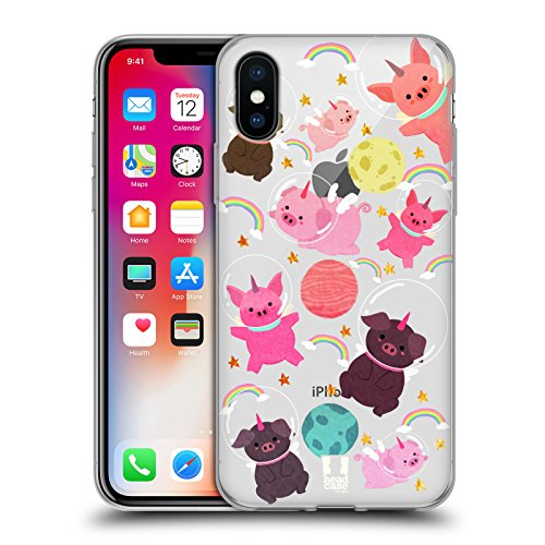 - Head Case Designs Pig Space Unicorns Soft Gel Case for iPhone X/iPhone Xs