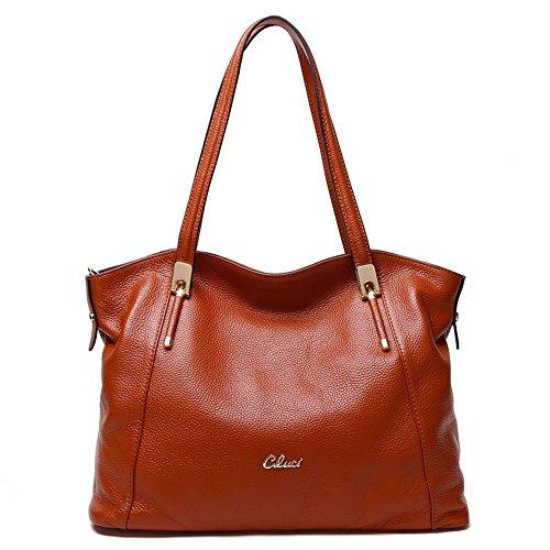 4 Purse Ladies Brown Handbags Women Handle Tote Shoulder Bag Bag Leather Top Satchels Designer 4xAOa