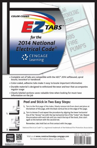- Color Coded EZ Tabs for the 2014 National Electrical Code