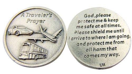 Religious Catholic Gift A Travelers Prayer God Protect and Shield Me Pocket Token (Catholic Personal Gift)