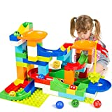 Toys : BATTOP Marble Run Building Blocks Construction Toys Set Puzzle Race Track for Kids-97 Pieces