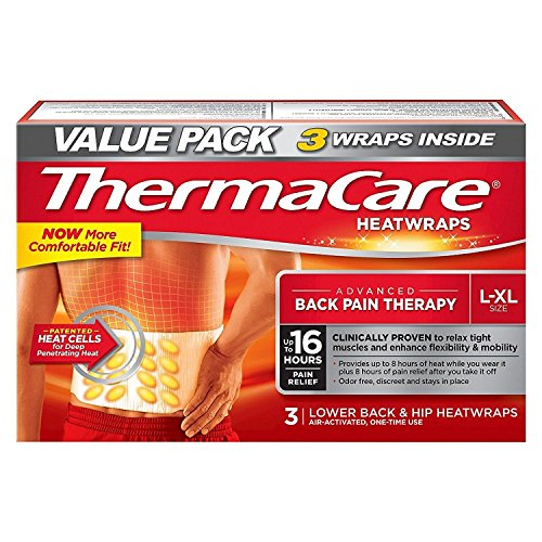 - ThermaCare Lower Back & Hip Heat Wraps, Large-XL, 9 HeatWraps