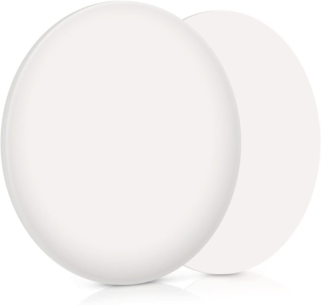 Navaris 10en1 topes para Puertas - Amortiguadores de Muebles de Cocina 40MM - Amortiguador para Puerta de Armario - Protector Adhesivo Color Blanco