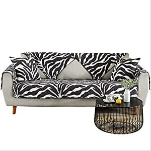 Amazon Com Sqinaa Zebra Pattern Sofa Cover Cotton Quilted