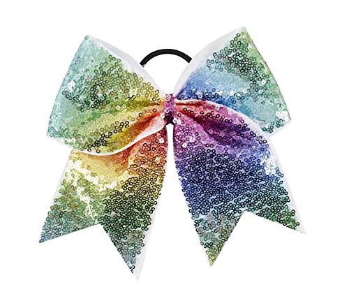 "NEW /""GLITTER Gold /& Red/"" Cheer Bow Pony Tail 3/"" Ribbon Girls Hair Cheerleading"