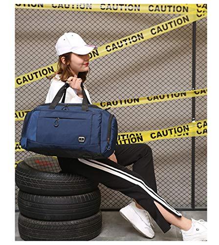 Deporte Werui Hombres Para Viaje Mujeres De Morado Con Bolsa O Fin Zapatos Compartimento Y Semana Noche Negro 7qEqf