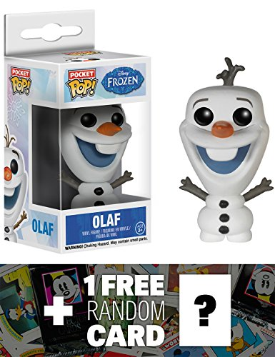 Olaf: Pocket POP! x Disney Frozen Mini-Figure + 1 FREE Classic Disney (Little Uglydoll Keychain)