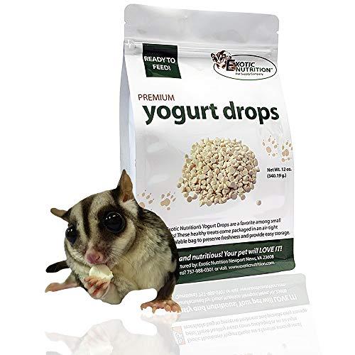 (Exotic Nutrition Yogurt Drops 12 oz. - Treat for Sugar Gliders, Prairie Dogs, Monkeys, Squirrels, Guinea Pigs, Rabbits)