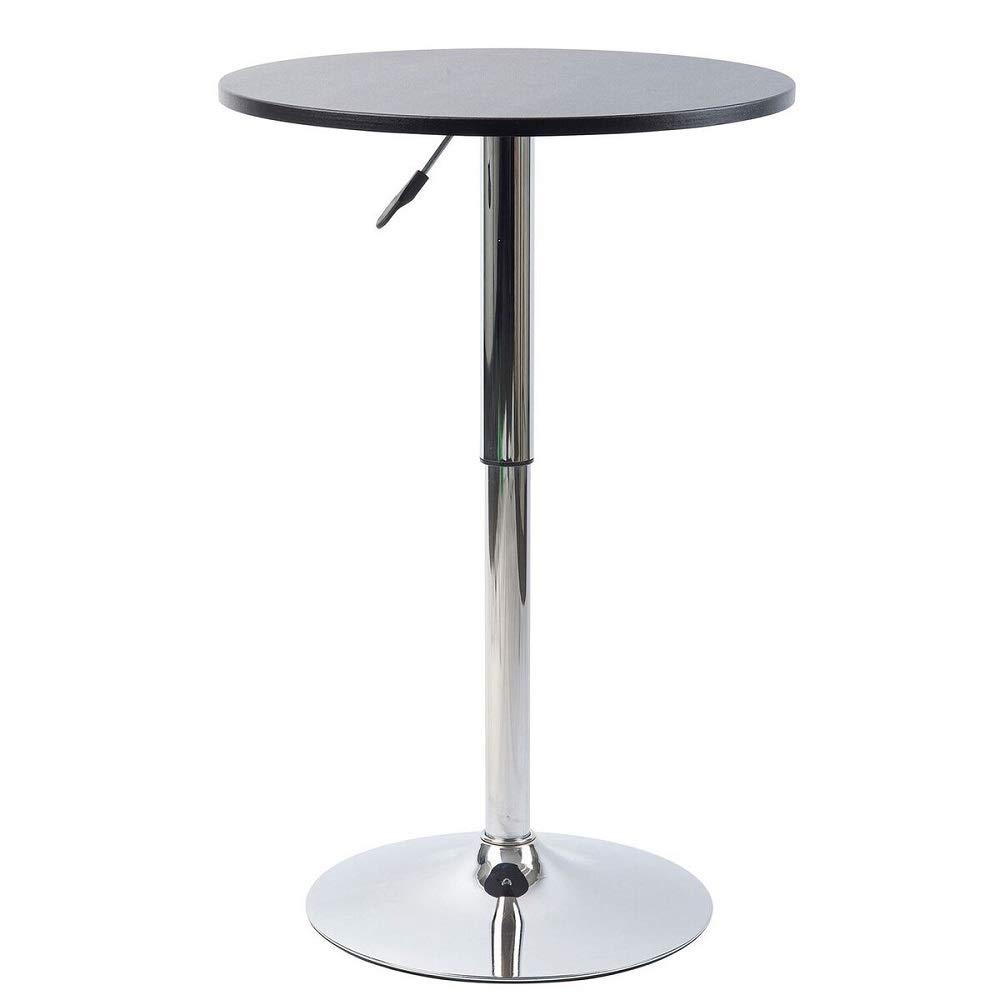 Pearington PEAR-39002 Artis Adjustable Round Bar and Pub Table Set with Chrome Base
