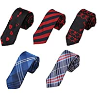 DANF.02 Series Polyester Slim Ties For Husband-5 Styles Available By Dan Smith