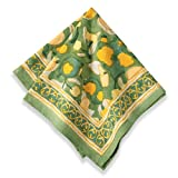 Couleur Nature Fruit Napkins, 19-inches by 19-inches, Yellow/Green, Set of 6