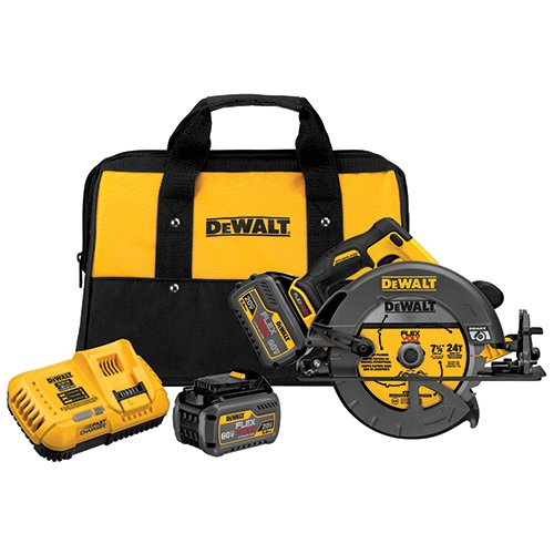 DEWALT DCS575T2 FLEXVOLT 60V MAX Brushless Circular Saw with Brake and 2 Battery Kit, 7-1/4″
