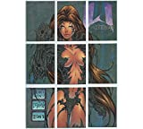 Trading Cards Witchblade 1996 Chrome Insert Set (P1-P9) by Top Cow