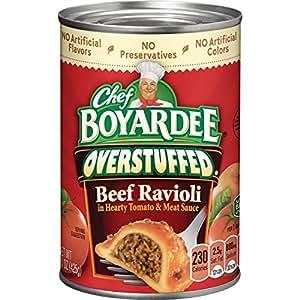 Chef Boyardee Big Beef Ravioli, Overstuffed, 15 Ounce