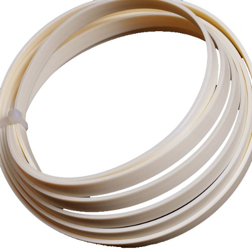 4pcs Ivory White Guitar ABS Bindings Purflings Strips 1650mmx6mmx1.5mm