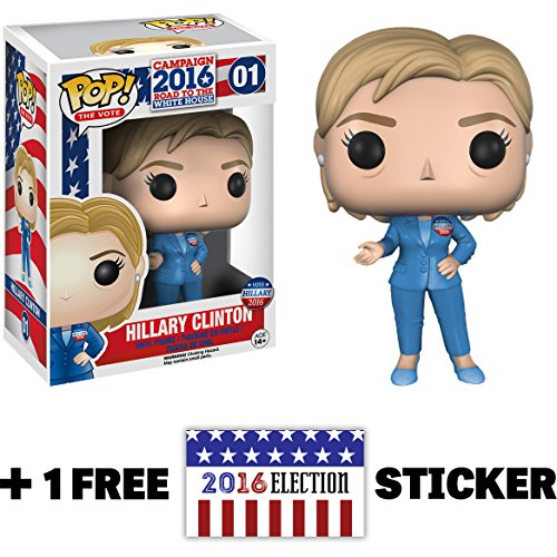 Hillary Clinton Figure Election Sticker product image
