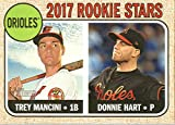 2017 Topps Heritage Baseball RC #396 Donnie Hart/Trey Mancini Orioles