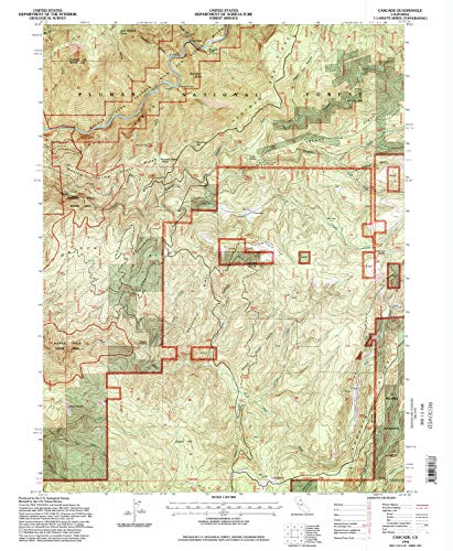 YellowMaps Cascade CA topo map, 1:24000 Scale, 7.5 X 7.5 Minute, Historical, 1994, Updated 1998, 26.7 x 22 in - Tyvek