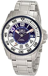 Invicta Men's 1832 Specialty Automatic Blue and White Dial Stainless Steel Watch