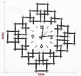 LQQGXL Iron cross creative fashion wall clock Creative clock