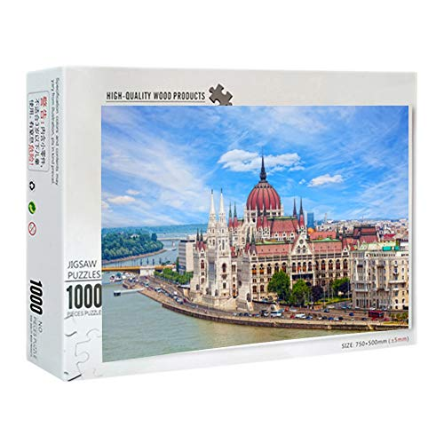 Large Size New Puzzle for Adult and Kids 1000 Pieces Paper Outeck Puzzles, Vintage Paintings Landscape Jigsaw Puzzle - Large Puzzle Game Toys Gift