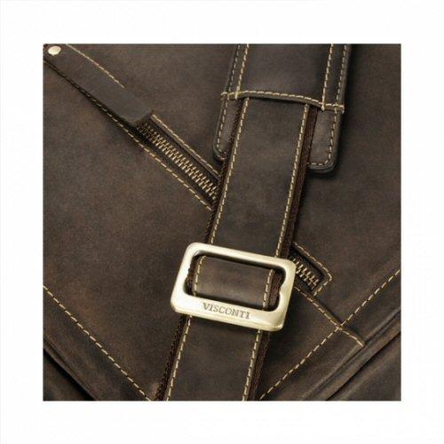 Visconti Bag Foster Messenger Case Oil Leather 16072 Black Laptop tYqOrxRt