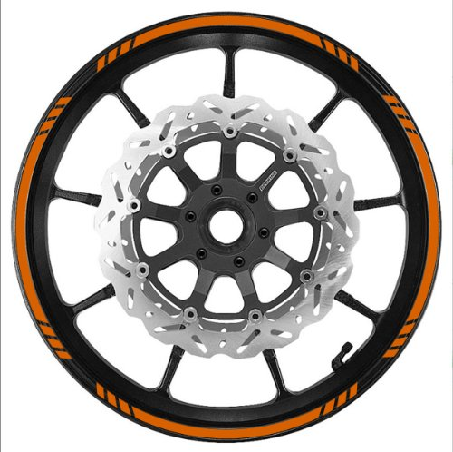 Vehicleartz DARK ORANGE Wheel Rim Tape SPEED Graduated Stripe fit ALL Makes of Motorcycles, Cars, Trucks