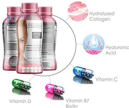 Amazon.com: Colágeno premium para disparos, 10 botellas/2 oz ...